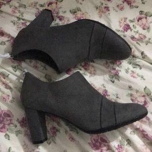 Aerosoles | Heelrest Gray Suede Bootie Heels